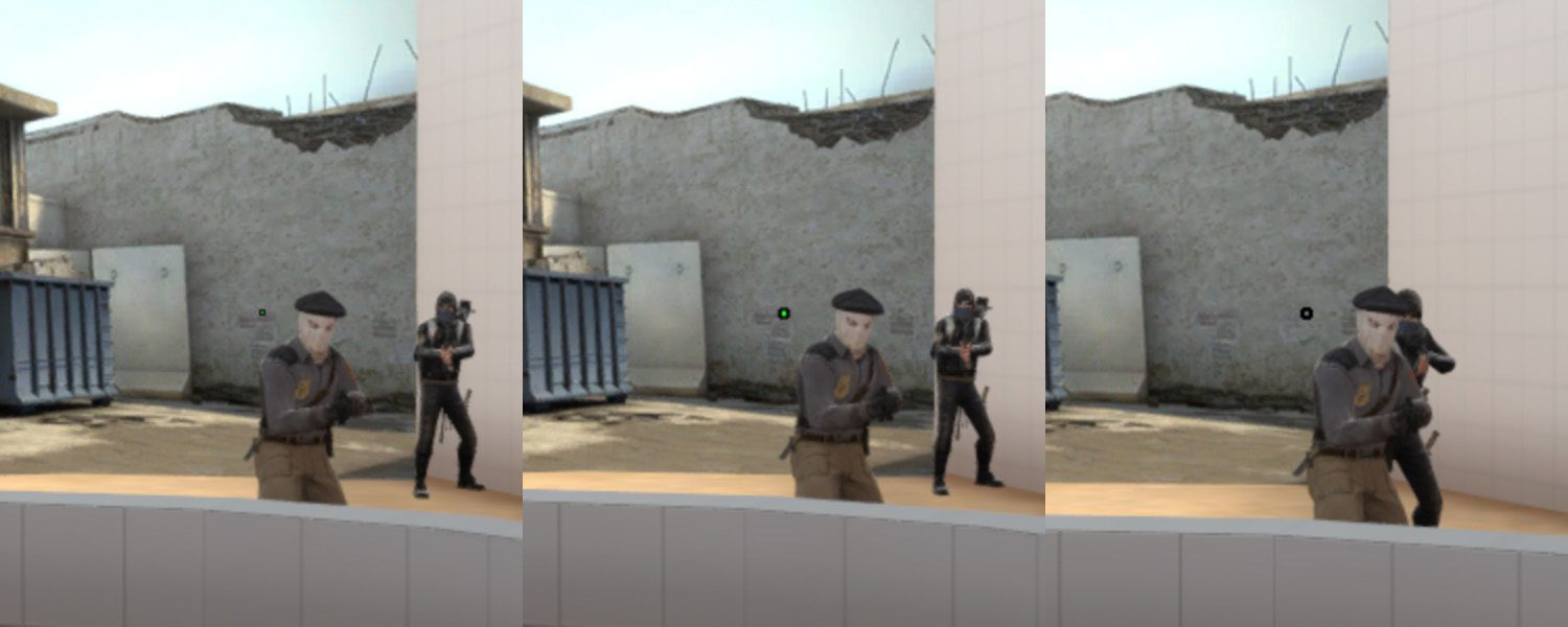 How to make a dot crosshair in CS:GO
